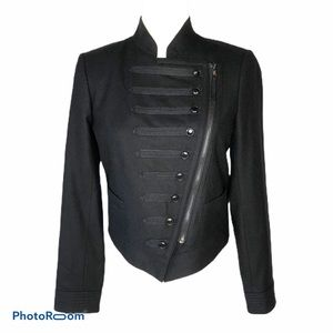 J. Crew Black Wool Majorette Military Jacket